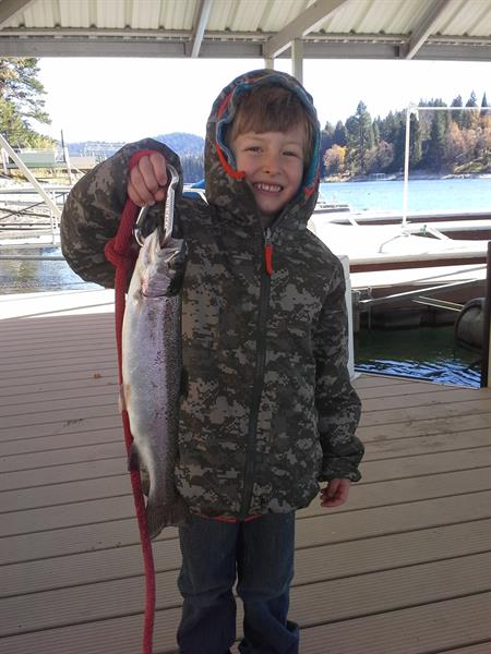 Ryker's rainbow trout