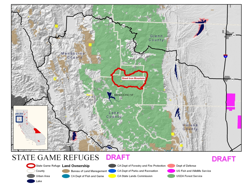 Click On Any Section On The Map Above Or The Links Below To View More Detailed Maps Of The Game Refuges