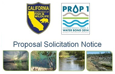 CDFW Proposition 1 Proposal Solicitation Notice