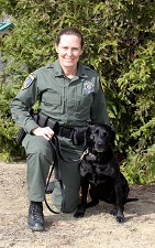 Capt. Christy Wurster and K-9 Wrigley