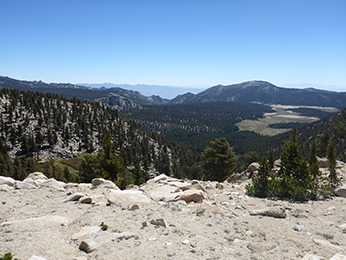 Big Whitney Meadow from summit of Cottonwood Pass