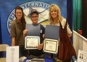 CDFW staff present Ethan Mayes with his Passport Program awards