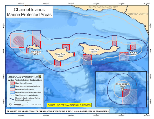 Map of Channel Islands MPAs