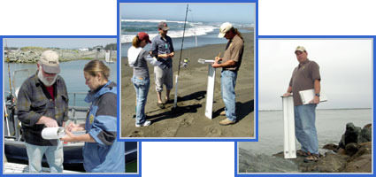 photos of staff interviewing anglers