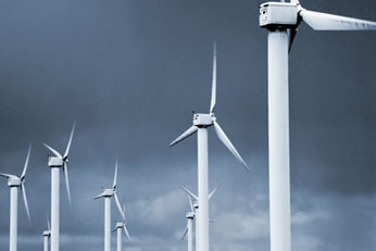 photo of wind turbines