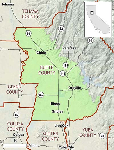 Butte Regional Conservation Plan area map