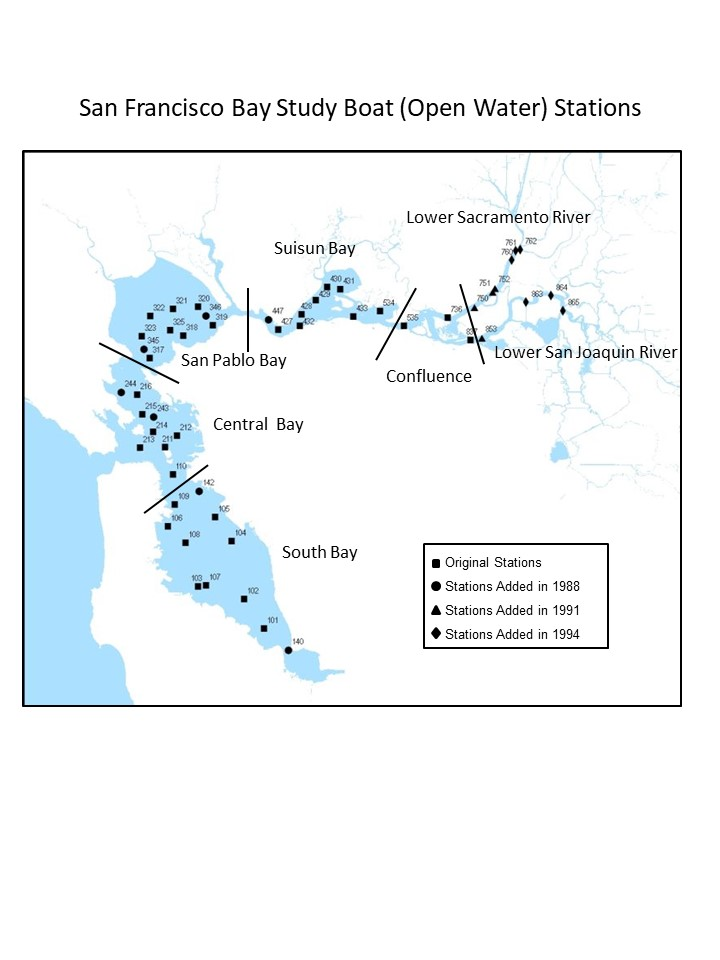 Bay map with regions