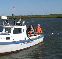 research vessel in the delta