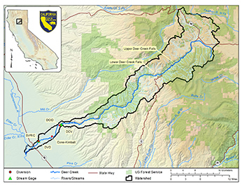 Deer Creek watershed map - link opens in new window