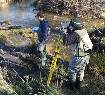 Field methodology training on Dry Creek