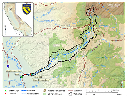 Mill Creek watershed map - click to enlarge in new window