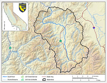 Scott River watershed map
