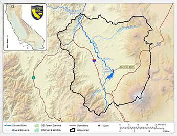 Shasta River watershed map