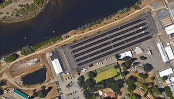 Americean river Hatchery Google earth View