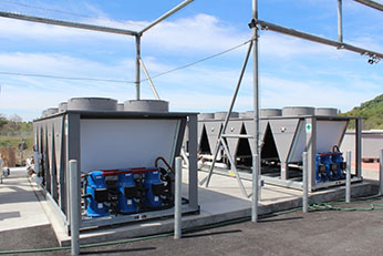 Water Chillers for Hatchery Building.  Photo 2015