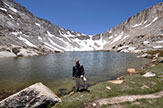 Cottonwood Lakes with mountain behind - photo