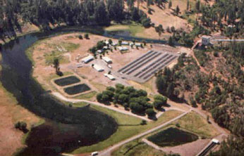 aerial photo of Crystal Lake fish hatchery