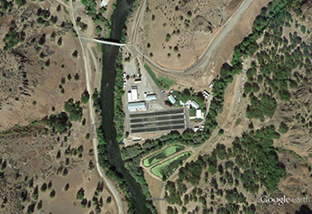 Iron Gate fish Hatchery Areal Map