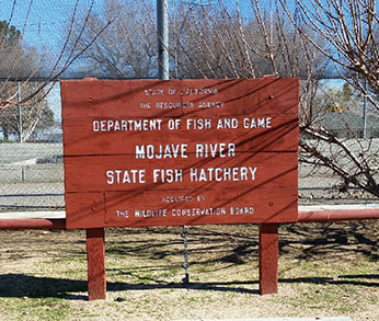 Mojave River Hatchery Sign