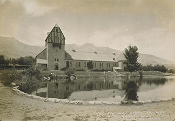 Mt Whitney Hatchery Circa 1920 - black and whit photo