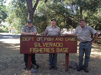 Silverado Fish Base staff and sign