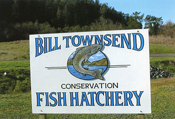 Photo of Bill Townsend conservation Fish Hatchery sign