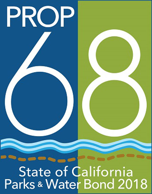 Logo of Prop 68 - state of California Parks & Water Bond 2018