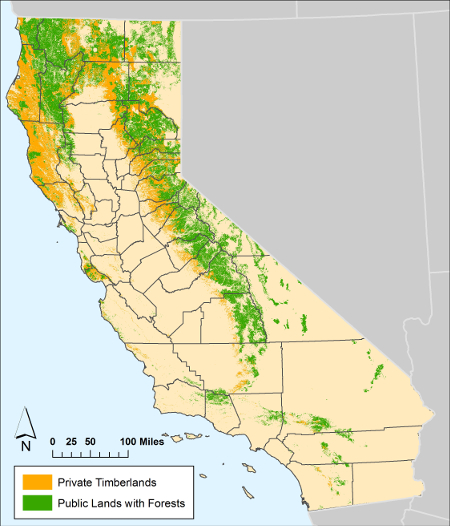 Map of California's Forests