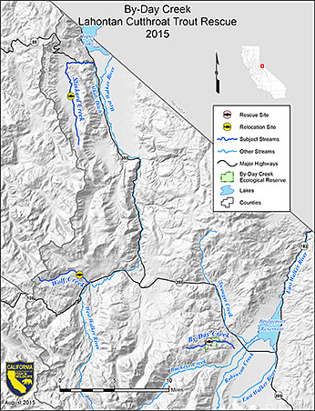 By-Day Creek Lahontan Cutthroat Trout Rescue 2015 Map