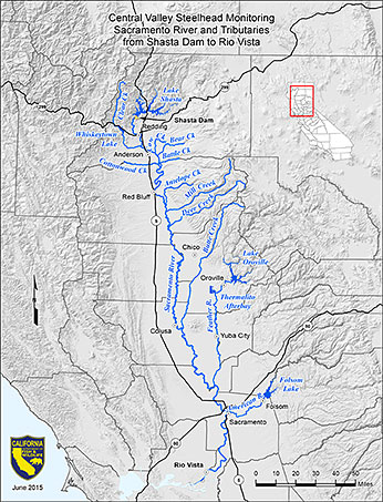 Central Valley Steelhead Monitor Map
