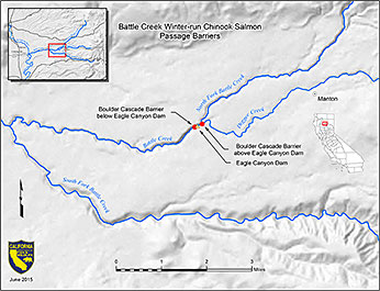 Battle Creek Barriers Map
