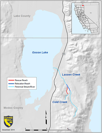 map of Goose Lake