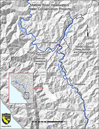 Mattole river and Mckee Creek map