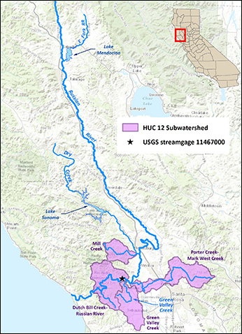 Map of the Russian River - Click to enlarge image in new window