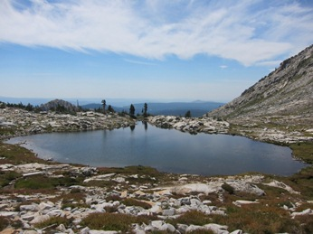 Photo: Largest of the two Pyramid Peak lakes, August, 2015