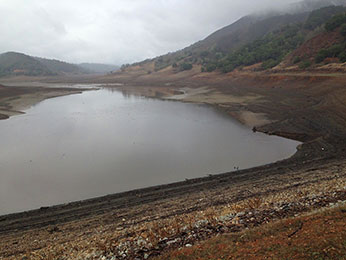 Uvas Reservoir on February 6. 2014 (Photo: CDFW)