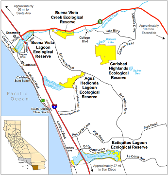 Map of Buena vista Creek ER - click to enlarge in new window
