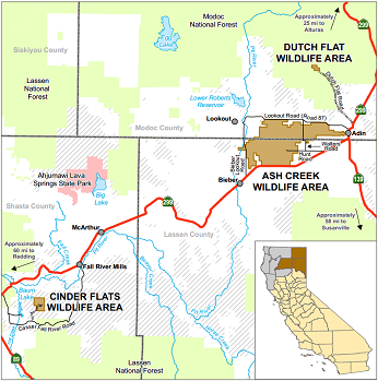 Map of Cinder Flats WA - click to enlarge in new window