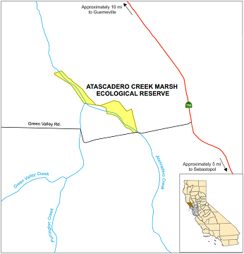 Map of Atascadero Creek Marsh ER - click to enlarge in new window