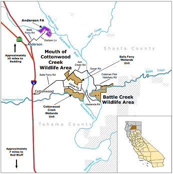 Map of Mouth of Cottonwood Creek WA - click to enlarge in new window