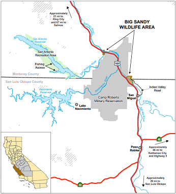 Map of Big Sandy WA - enlarge in new window