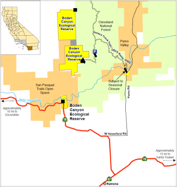 Map of Boden Canyon ER - click to enlarge in new window