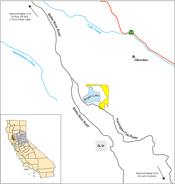 Map of Boggs Lake ER - click to enlarge in new window