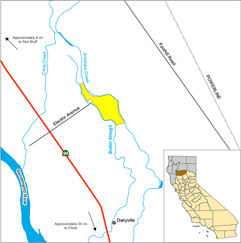 Map of Butler Slough ER - click to enlarge in new window