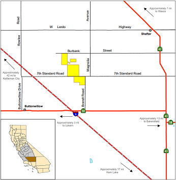 Map of Buttonwillow ER - click to enlarge in new window