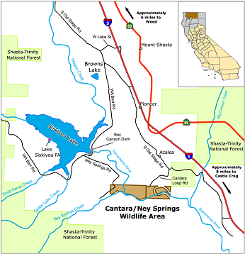 Map of Cantara Ney Springs WA - click to open in new window