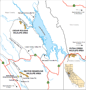Map of Rector Reservoir WA location - click to enlarge in new window