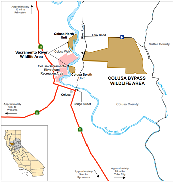Map of Colusa Bypass WA - click to enlarge in new window