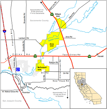 Map of Cosumnes River ER - click to enlarge in new window
