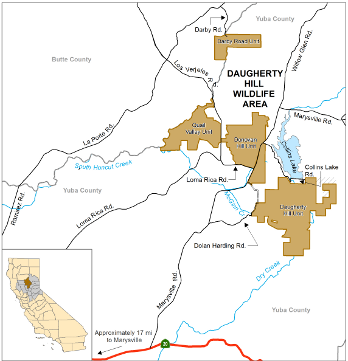 map of Daugherty Hill Wildlife Area - click to enlarge in new window